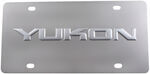 Stainless Steel License Plate Yukon Chrome