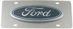 Stainless Steel License Plate Ford Logo Large Chrome