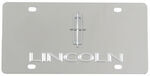 Stainless Steel License Plate Lincoln with Logo Chrome