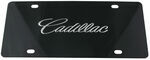 Ebony Finished Stainless Steel License Plate Cadillac Chrome