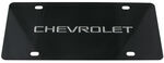 Ebony Finished Stainless Steel License Plate Chevrolet Chrome