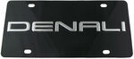 Ebony Finished Stainless Steel License Plate Denali Chrome