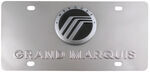 Stainless Steel License Plate Grand Marquis with Mercury Logo Chrome