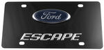 Ebony Finished Stainless Steel License Plate Escape with Ford Logo Chrome