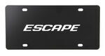 Ebony Finished Stainless Steel License Plate Escape Chrome