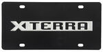 Ebony Finished Stainless Steel License Plate Xterra Chrome