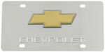 Stainless Steel License Plate Chevy with Logo Chrome