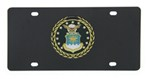 Air Force Stainless Steel License Plate with Ebony Finish