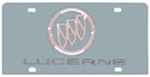 Buick Lucerne License Plate - Chrome Logo and Lettering - Stainless Steel with Mirror Finish