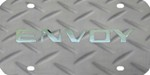 GMC Envoy License Plate - Chrome Lettering - Stainless Steel with Diamond Plate Pattern