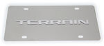 GMC Terrain License Plate - Chrome Lettering - Stainless Steel w/ Chrome Finish