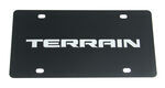 GMC Terrain License Plate - Chrome Lettering - Stainless Steel w/ Black Finish