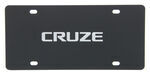 Chevrolet Cruze License Plate - Chrome Lettering - Stainless Steel w/ Black Finish