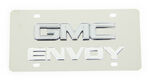 Stainless Steel License Plate Envoy with GMC Logo Chrome