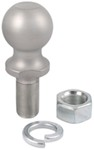 "Standard Hitch Ball with 2"" Diameter, 6,000 lbs GTW - Stainless Steel"