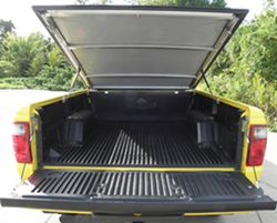Tonneau in open position