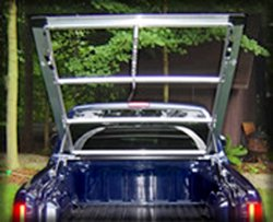 Tonneau's aluminum frame without vinyl covering