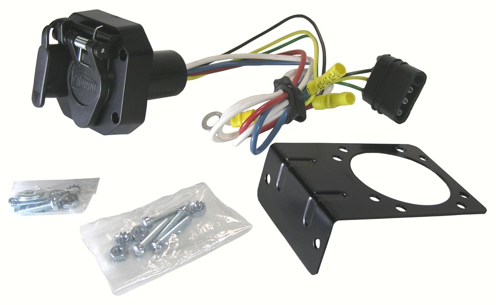 adapter 4 pole to 6 pole and 4 pole trailer wiring adapter hopkins