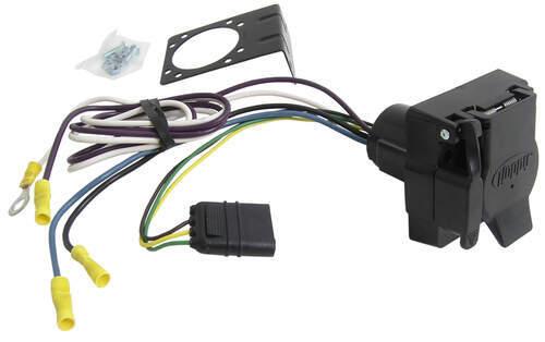 adapter 4 pole to 7 pole and 4 pole hopkins wiring 37185 rh etrailer com RV 7-Way Trailer Plug Wiring Diagram 7 Spade Trailer Wiring Diagram