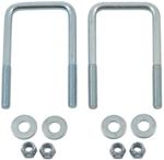 "Trailer Square U-Bolts (Qty 2),2-1/4"" x 4-1/4"" x 3/8"""