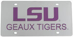 Louisiana State University License Plate- LSU Geaux Tigers