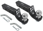 "Draw-Tite Class III Ball Mounts w 2"" Balls - 3/4"" Rise, 2"" Drop - 6,000 lbs - Qty 2"