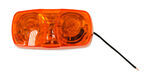 Peterson Amber Rectangular, Two Bulb, Trailer Clearance Light, 138A