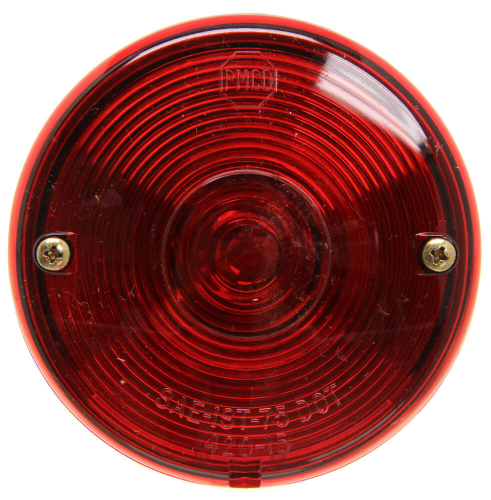 Peterson Round Trailer Tail Light With License Plate Light  2 Stud Mounting  Left Hand Peterson