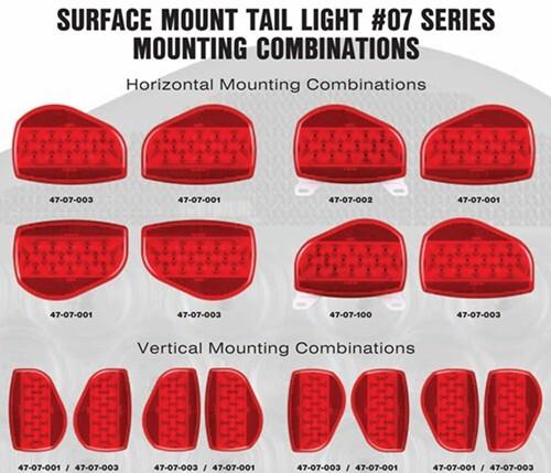 Bargman Surface Mount Led Tail Light - 07 Series