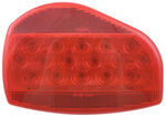Bargman Surface Mount LED Tail Light - 07 Series - Red - White Base - Pair w/ 47-07-001