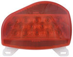 Bargman Surface Mount LED Tail Light w/ License Plate Light - 07 Series - Red - Pair w/ 47-07-003