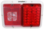 Bargman LED, Recessed, Double Tail Light - 84, 85 Series - Red - Colonial White Base
