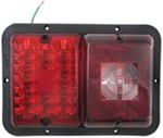 Bargman LED, Recessed, Double Tail Light - 84, 85 Series - Red LED, Incandescent Backup - Black Base