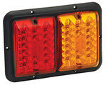 Bargman LED, Recessed, Double Tail Light - 84, 85 Series - Red and Amber - Black Base