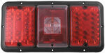 Bargman Triple Tail Light - 84, 85 Series - Red LED, Center Incandescent Backup - Black Base