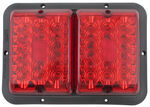 Bargman LED, Recessed, Double Tail Light - 84, 85 Series - Red - Black Base