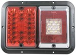 Bargman LED, Surface Mount, Double Tail Light - 84, 85 Series - Red and Backup - Black Base
