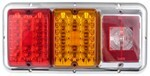 Bargman Triple Tail Light - 84, 85 Series - Red and Amber LED, Incandescent Backup - Chrome Base