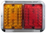 Bargman LED, Surface Mount, Double Tail Light - 84, 85 Series - Red and Amber - Chrome Base