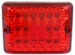 Bargman LED Single Tail Light - 86 Series - Red - Colonial White Base