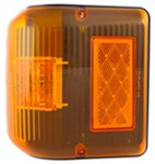 Bargman LED Wraparound Clearance/Side Marker Light - 86 Series - Amber - Black Base