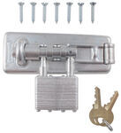 "Master Lock Hasp with Integrated 4-Tumbler Padlock - 4-1/2"" Long"