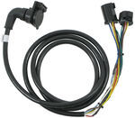 5th Wheel/Gooseneck 90-Degree Wiring Harness w/ 7-Pole Plug - 9' Long