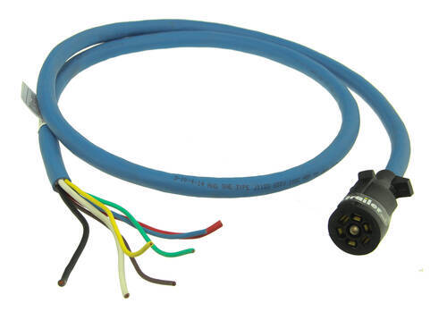 7-way Molded Trailer End With 6 U0026 39  Cable