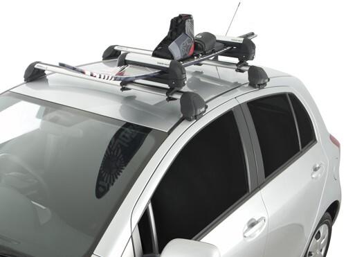 Roof Rack Installation >> Rhino-Rack Locking Ski Carrier and Fishing Rod Holder - Roof Mount - 2 Skis Rhino Rack Ski and ...
