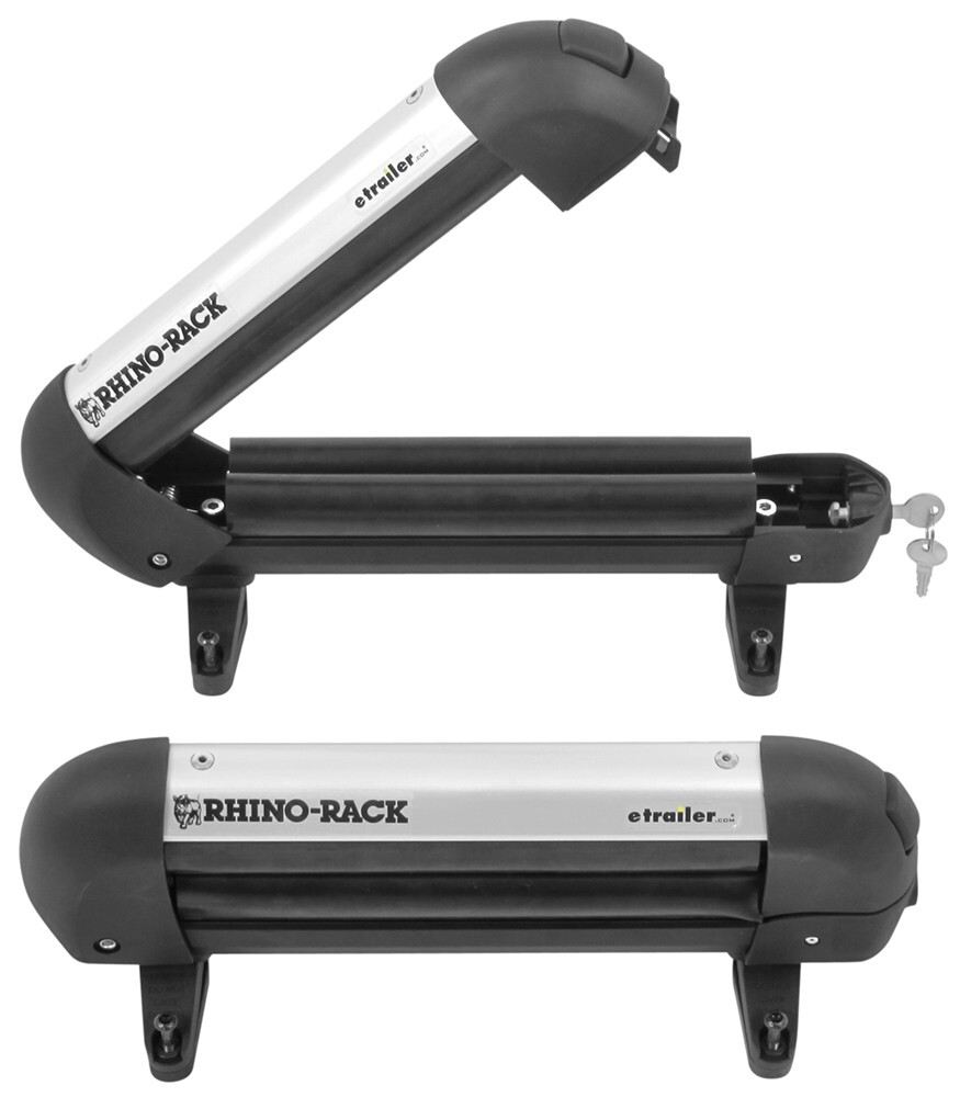 Rhino Rack Locking Ski Carrier And Fishing Rod Holder