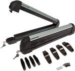 Rhino-Rack Locking Ski and Snowboard Carrier for Tall Bindings - Roof Mount - 4 Skis/2 Boards