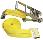 "Ratchet Strap with Flat Hooks, 3"" x 30' 15K"
