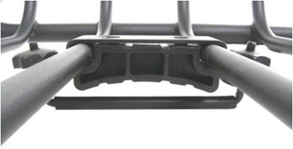 Close-up of mounting bracket on Rola Vortex cargo carrier
