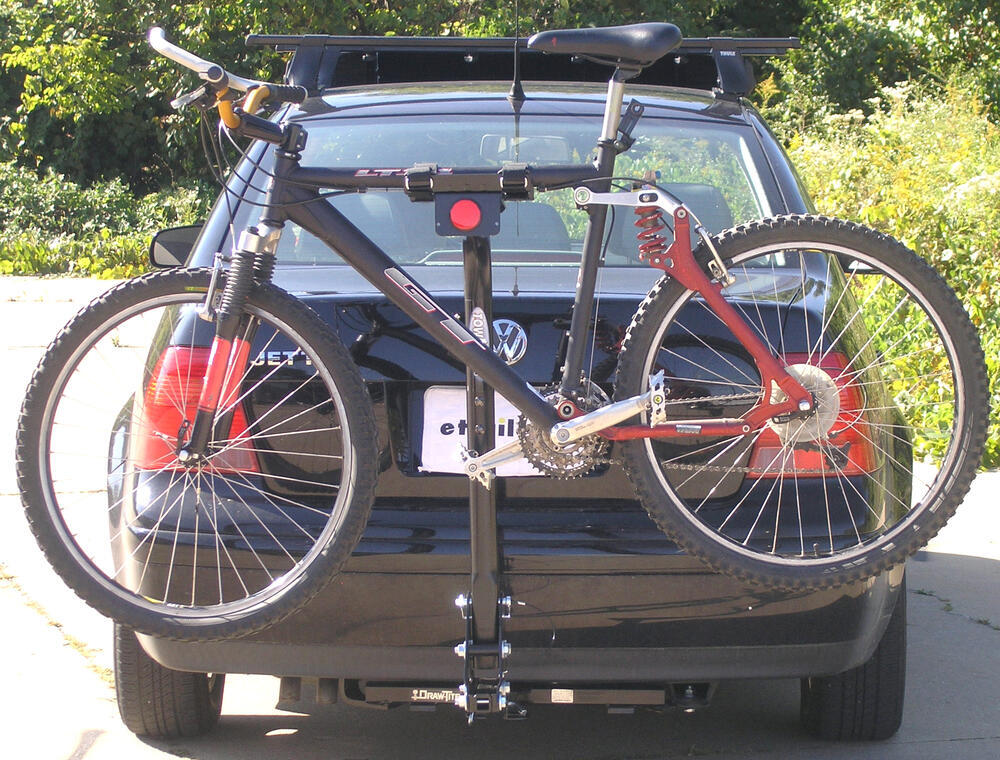 2 Bike Hitch Mounted Folding Rack W Frame Mount Cradles